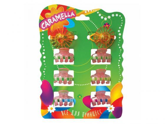 Набор украшений для волос Caramella Резинки-шляпки и крабики 8 шт разноцветный 21630