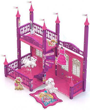 Замок для кукол Нордпласт Домик Барби 121 предмет 592 тележка для магазина нордпласт нордпласт