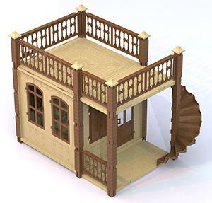 Дом для кукол Нордпласт Замок Принцессы 1 этаж 590/1 нордпласт ведро форма замок нордпласт