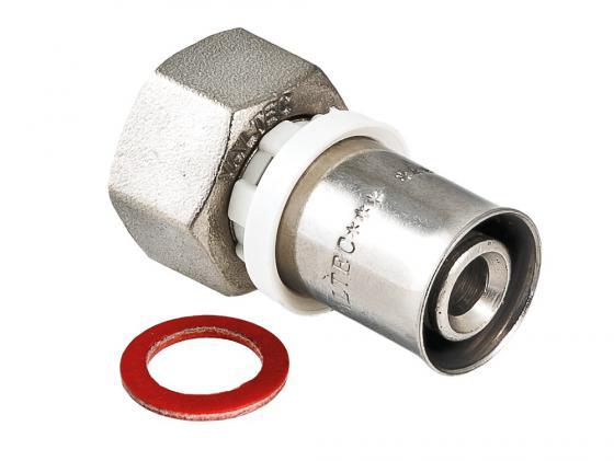 Соединитель пресс с накидной гайкой 16х1/2 VALTEC VTm.222.N.001604 соединитель прямой с накидной гайкой под евроконус 20 пресс х 1 2 внутр г tiemme