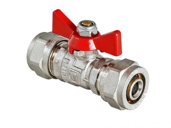 Кран шаровой под обжим, рукоятка бабочка 16 VALTEC VT.343.N.1616 кран шаровой brand new ac 220v 16 x 1 solenoid valve