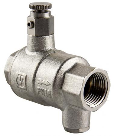Обратный клапан с дренажем и воздухоотводчиком 1 1/4 VALTEC VT.171.N.07 четырехходовой смесительный клапан 1 1 4 valtec vt mix04 g 07