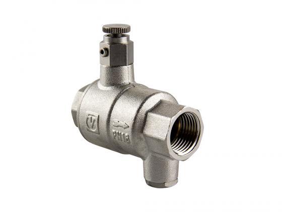 """цена Обратный клапан с дренажем и воздухоотводчиком 1/2"""" VALTEC VT.171.N.04"""