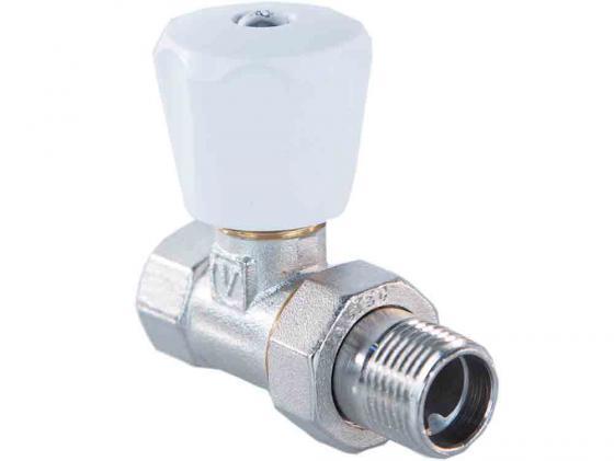 Клапан ручной прямой 1/2 (компактный) VALTEC VT.008.LN.04 четырехходовой смесительный клапан 1 1 4 valtec vt mix04 g 07