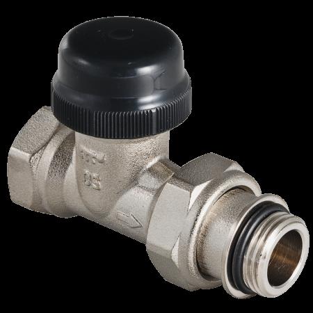 Клапан термостатический для радиатора прямой с преднастройкой (KV 0,1-0,6) 3/4 VALTEC VT.038.N.05 клапан полипропиленовый для радиатора valtec 25х3 4 нр прямой с американкой
