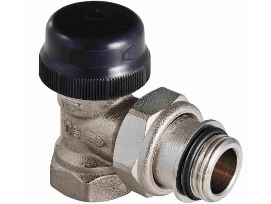 Клапан термостатический для радиатора угловой с преднастройкой (KV 0,1-0,6) 3/4 VALTEC VT.037.N.05 клапан полипропиленовый для радиатора valtec 25х3 4 нр прямой с американкой