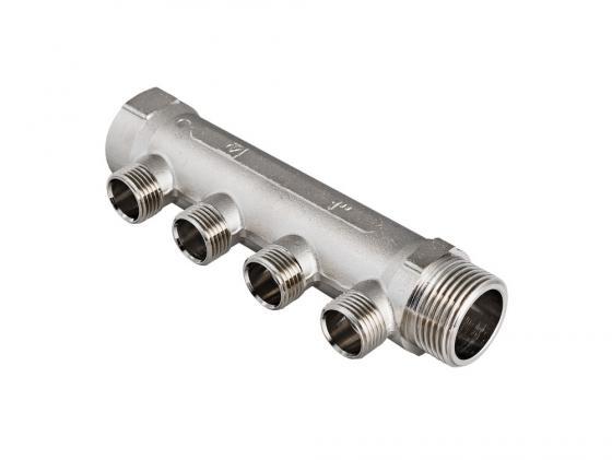 Коллектор, 3/4х2 вых. 1/2 нар. VALTEC VTc.500.N.0502 коллектор gf 3 4 внутр г х 4 отвода 1 2 нар ш х 3 4 нар ш регулируемый