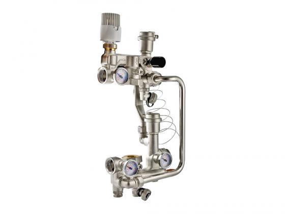 Насосно-смесительный узел с термоголовкой, без насоса, монтажная длина насоса 180 мм VALTEC VT.COMBI.0.180  цена и фото