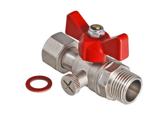 Кран шаровой для подключения манометра, 1/2нар -1/2вн. VALTEC VT.806.N.0404 герметик вго 1 ту 38303 0404 90