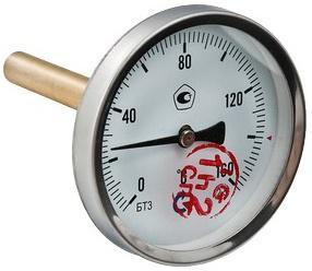 """Термометр БТ-31 Dy63 с задн. подкл., 1/2"""" 0-160* VALTEC БT-31"""