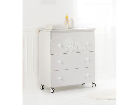 Комод пеленальный с ванночкой Baby Expert Coccolo (белый) пеленальный комод с ванночкой baby expert bon bon duetto белый серый