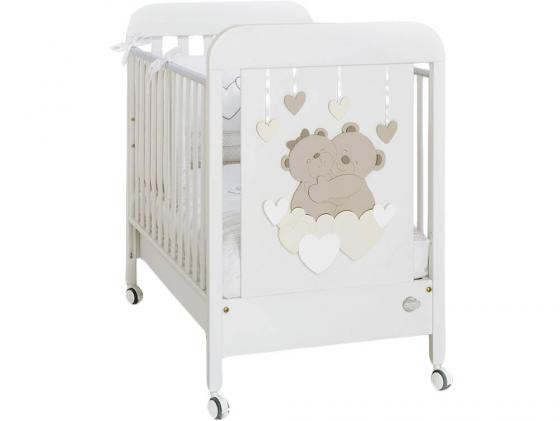 цена Кроватка Baby Expert Tenerezze (белый/светло-коричневый) онлайн в 2017 году