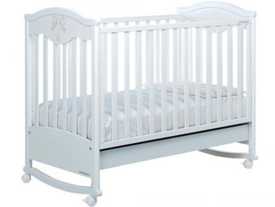 Кроватка-качалка Foppapedretti Charmant (белый) детские кроватки foppapedretti charmant