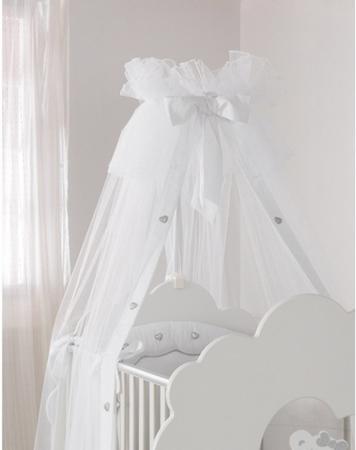 Балдахин на кроватку Baby Expert Serenata (белый) кровать baby expert кровать baby expert abbracci by trudi крем