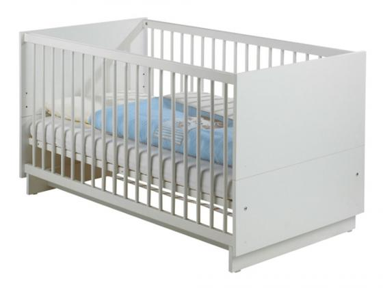 Кроватка-трансформер Geuther Fresh (белый) полочка geuther fresh