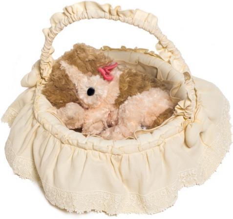 Плетеная корзина Italbaby Cuccioli без колёс бежевый текстиль 630,0062- italbaby гобелен на стену italbaby cuccioli