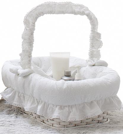 Плетеная корзина Italbaby Amore 640,0082-5 без колёс белый ивовые прутья плетеная корзина italbaby love крем 630 0040 6