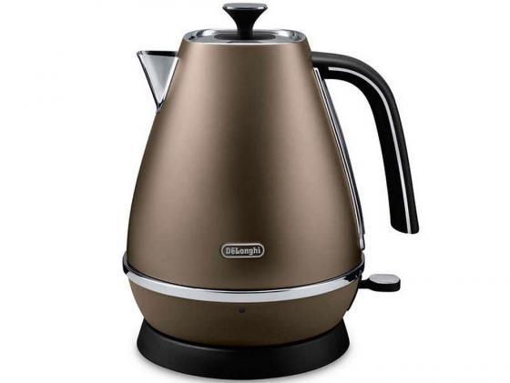 Чайник DeLonghi KBI 2001 BZ 2000 Вт 1.7 л пластик коричневый все цены