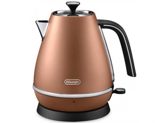 Чайник DeLonghi KBI 2001 CP 2000 Вт коричневый 1.7 л нержавеющая сталь