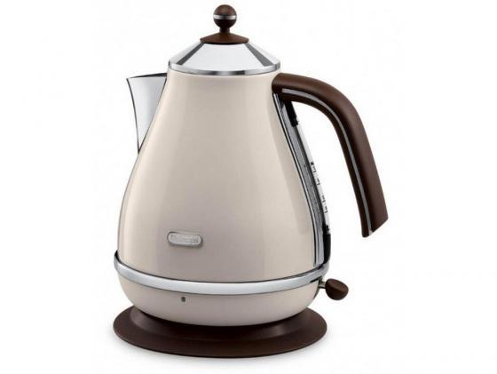 Чайник DeLonghi KBOV 2001 BG 2000 Вт бежевый 1.7 л металл цена и фото