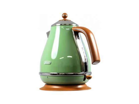 Чайник DeLonghi KBOV 2001 GR 2000 Вт зелёный 1.7 л металл/пластик чайник delonghi kbov 2001 bk