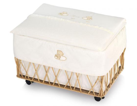 Ящик для игрушек Italbaby Love на колёсах кремовый ивовые прутья 650,0040 подвесной светильник italbaby love белый 615 0040 5