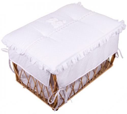Плетеный ящик Italbaby Principini на колёсах белый дерево 650,0038-5 светильник italbaby светильник настольный italbaby peluche крем
