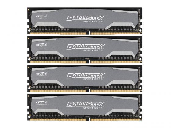 цены на Оперативная память 32Gb (4x8Gb) PC4-19200 2400MHz DDR4 DIMM Crucial BLS4C8G4D240FSB