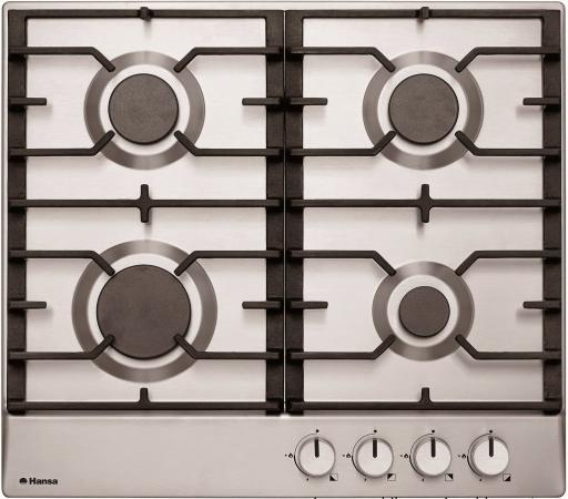Варочная панель газовая Hansa BHGI61039 серебристый цена и фото