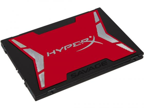 Твердотельный накопитель SSD 2.5 960GB Kingston HyperX Savage Read 520Mb/s Write 490Mb/s SATAIII SHSS37A/960G внутренний ssd накопитель 960gb kingston sa400s37 960g sata3 2 5 a400