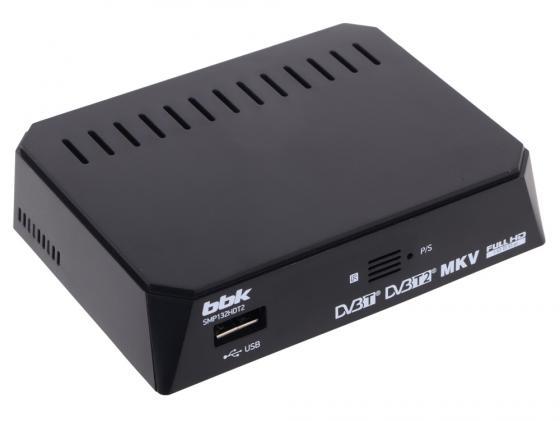 Тюнер цифровой DVB-T2 BBK SMP132HDT2 черный