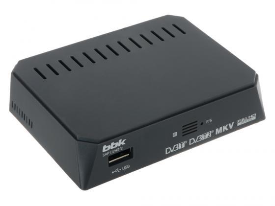 Тюнер цифровой DVB-T2 BBK SMP132HDT2 серый bbk smp 132 hdt2 dark grey