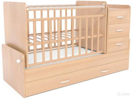 Кроватка-трансформер СКВ-5 (бук/544036)