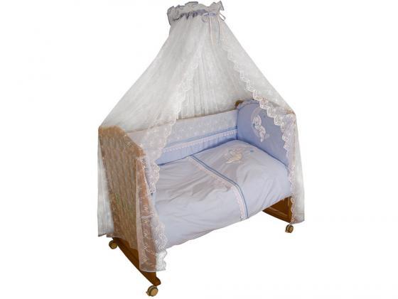 Постельный сет 7 предметов Сонный гномик Лунный Зай (голубой) сонный гномик комбинезон трансформер бамбино голубой