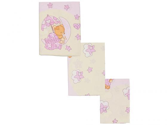 Постельный сет 7 предметов Сонный гномик Мишкин Сон (розовый) борт в кроватку сонный гномик считалочка бежевый бсс 0358105 4