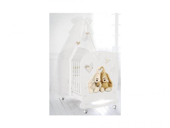 Кроватка-качалка Baby Expert Cremino Lux (белый) комоды baby expert cremino бельевой 3 ящика
