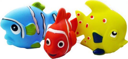 Набор игрушек для ванны Жирафики Маленькие рыбки 68860 мобили жирафики рыбки
