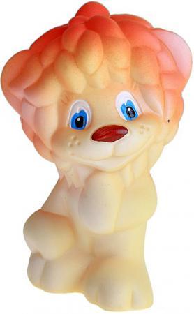 Резиновая игрушка для ванны Огонек Львенок Солнышко 13 см с-1044 резиновая игрушка для ванны огонек набор выпечки с 894 6 см с 1157