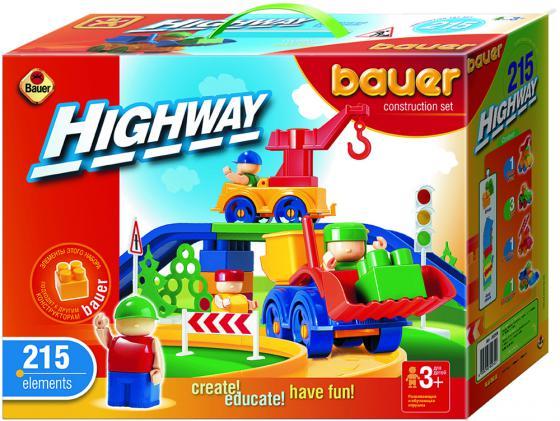 Конструктор Bauer Автодорога 215 элементов 250 конструктор bauer bauer конструктор автодорога 215 элементов