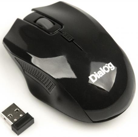 Мышь беспроводная Dialog MROP-04UB чёрный USB чехол для samsung s7562 galaxy s duos nillkin super frosted shield белый