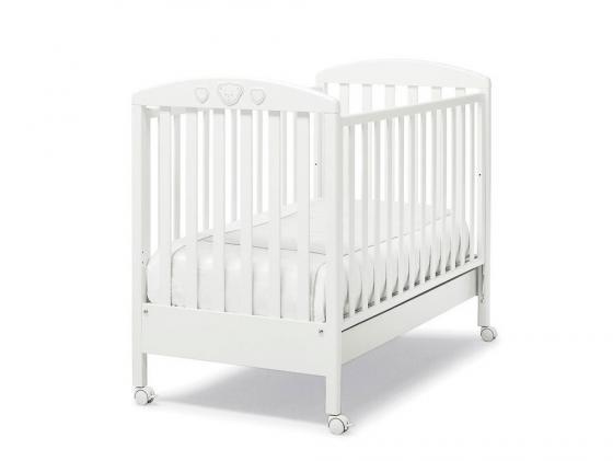 Кроватка Erbesi Abbraccio (белый)