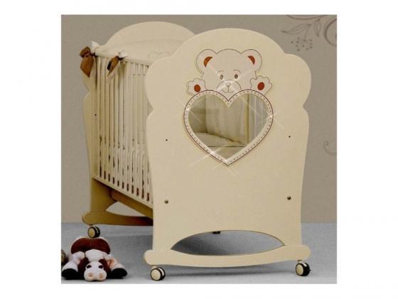 Кроватка-качалка Erbesi Cucciolo (слоновая кость) кроватка качалка erbesi amour орех
