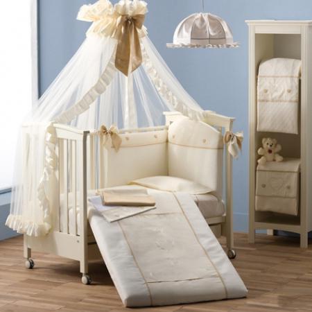 Балдахин на кроватку Erbesi Cuori (слоновая кость) балдахин на кроватку esspero shine beige