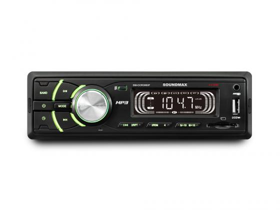 Автомагнитола Soundmax SM-CCR3053F USB MP3 FM SD 1DIN 4x45Вт черный
