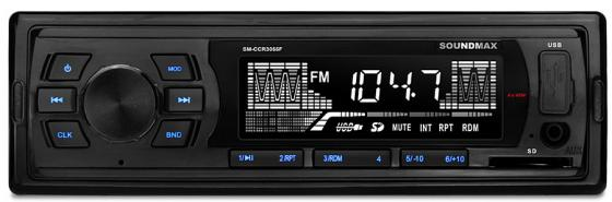 Автомагнитола Soundmax SM-CCR3055F USB MP3 FM SD 1DIN 4x45Вт черный