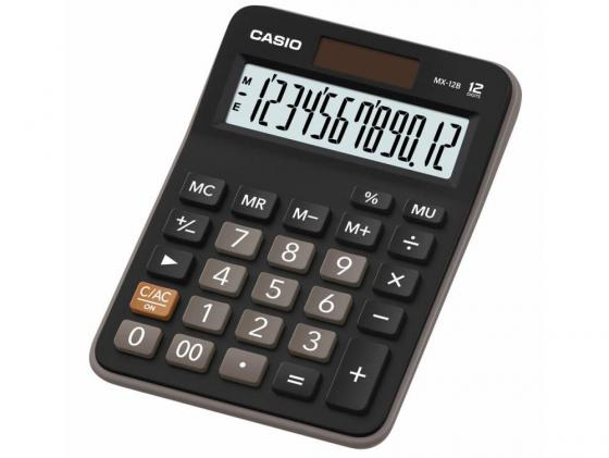 Калькулятор Casio MX-12B 12-разрядный коричневый/черный калькулятор casio dx 12b