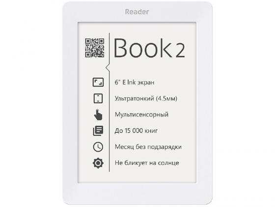 Электронная книга Reader Book 1 6 E-ink HD Pearl 1024x758 256Mb 4Gb белый-черный RB1-WB-RU book reader это электронная читалка книг