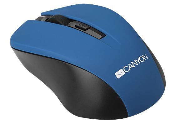Мышь беспроводная Canyon CNE-CMSW1BL синий USB цена и фото