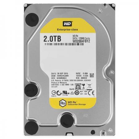 Жесткий диск 3.5 2 Tb 7200rpm 128Mb cache Western Digital RE SATAIII WD2004FBYZ