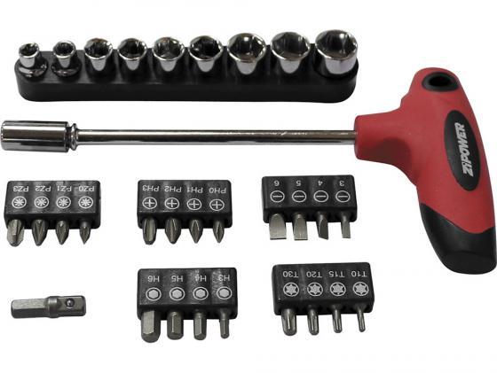 Набор головок и бит ZIPOWER PM 5155 31шт автомобильный компрессор с пылесосом zipower pm 6510 15л мин